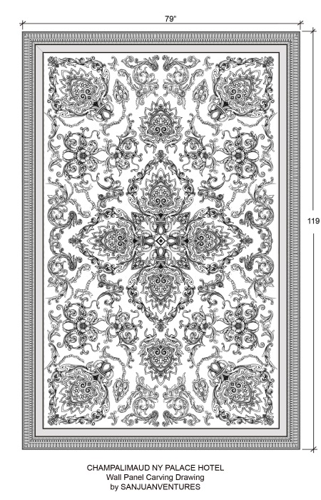 Champalimaud Wall Carving Panel R2-01